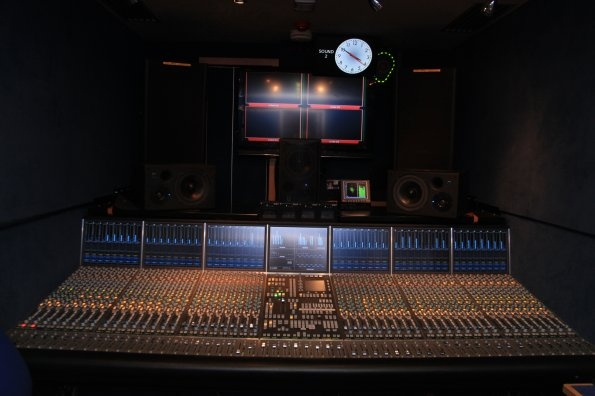 SSL C200 mixing console in Sound 2, Radio Outside Broadcast vehicle.