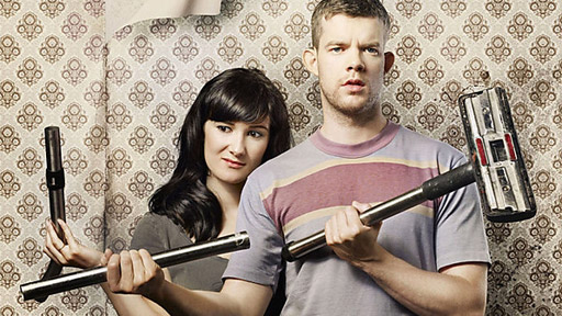 Sarah Solemani (Becky) and Russell Tovey (Steve)