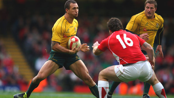 Fly-half Quade Cooper bamboozles the Wales defence in Australia's win in Cardiff