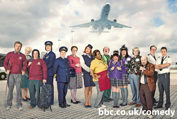 Matt Lucas and David Walliams play an assortment of characters in Come Fly WIth Me