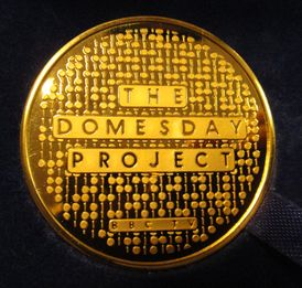 Domesday Medallion - not real gold.