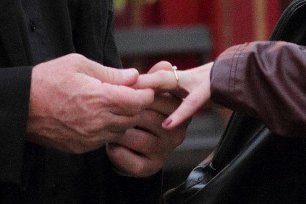 ring on finger