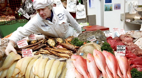 Furness Fish trading at Borough market