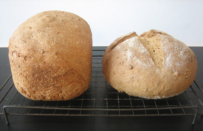 Malted brown bread loaves