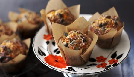Pumpkin and rosemary muffins