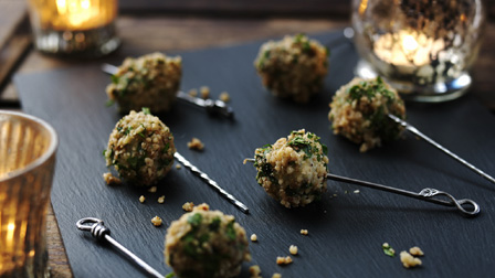 Stilton and toasted walnut balls