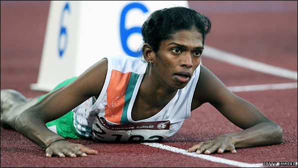 Santhi Soundarajan failed a gender test after the 2006 Asian Games