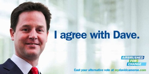 Nick Clegg poster