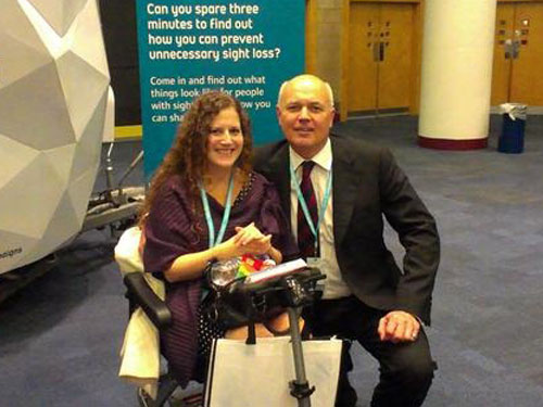 Disability campaigner Kaliya Franklin with Secretary of State for Work and Pensions Ian Duncan Smith
