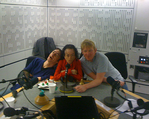 Mat Fraser, Liz Carr and Rob Crossan