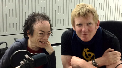 Liz Carr and Rob Crossan, presenters of the Ouch! disability talk show