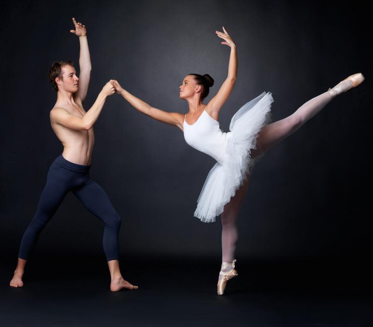 Two graceful ballet da...