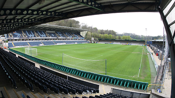 Adams Park - the home of Wycombe Wanderers and Wasps.