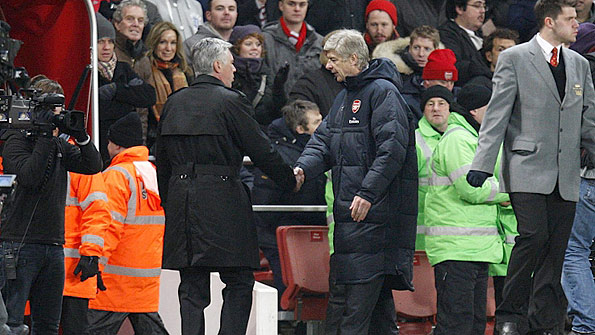 Carlo Ancelotti (left) and Arsene Wenger