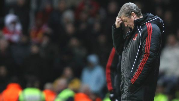Roy Hodgson endured a miserable time as Anfield manager