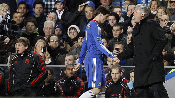 Torres was substituted in the 65th minute against former club Liverpool