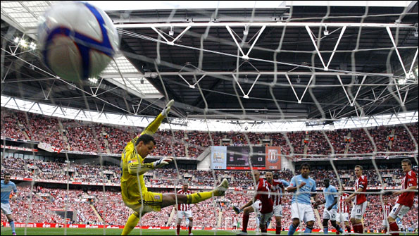 Yaya Toure scores for Manchester City in the 1-0 FA Cup final win over Stoke City