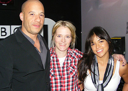 Vin Diesel, Edith and Michelle Rodriguez