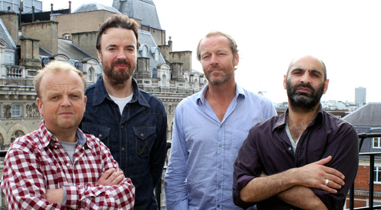 Iain Glen, Toby Jones, Paul Rhys and Zubin Varla