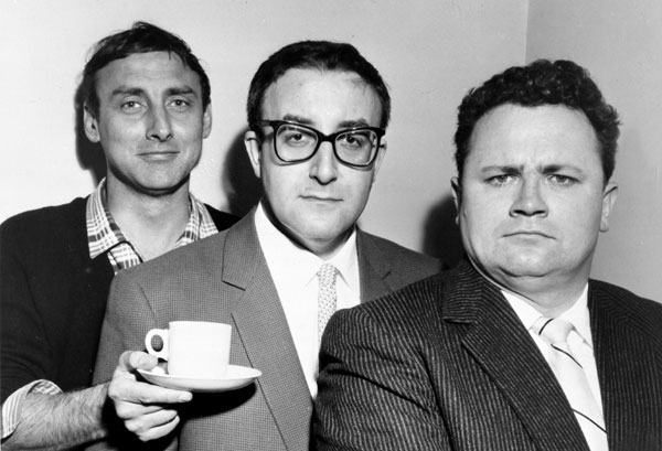 Tea for the Goons in 1958 Spike Milligan, Peter Sellers and Harry Secombe