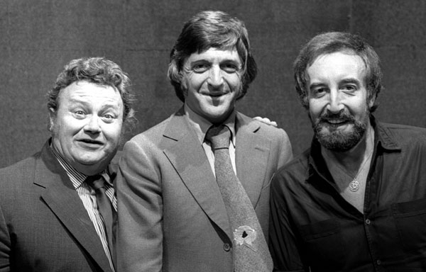 Harry Secombe, Michael Parkinson and Peter Sellers on Parkinson in 1972