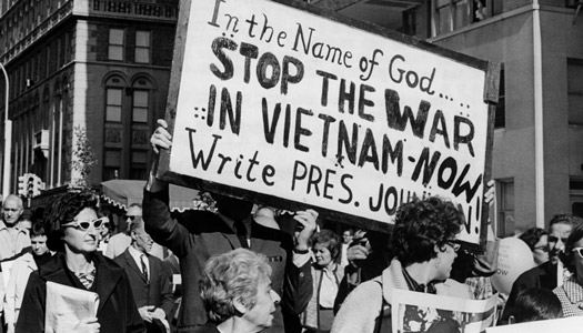 Vietnam protests in USA - Getty image for Letter From America promotion
