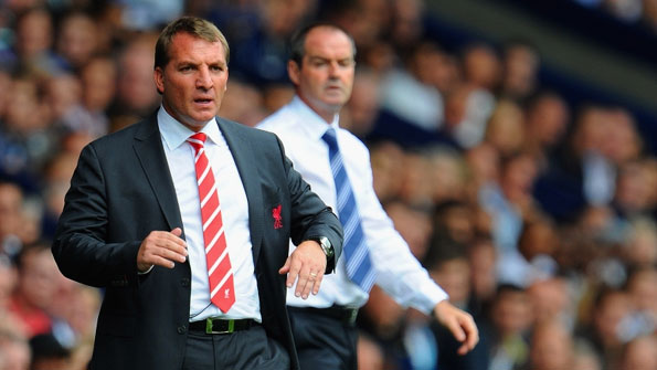 Liverpool manager Brendan Rodgers (left).