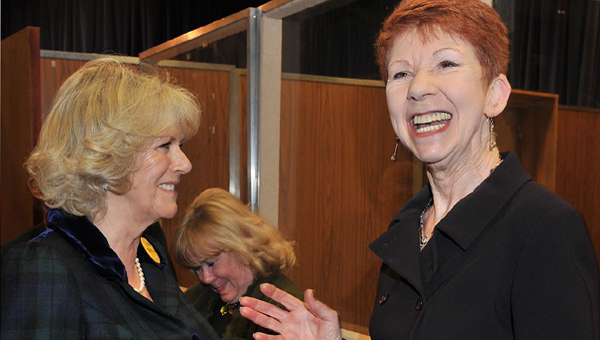 The Duchess of Cornwall and Carole Boyd (Lynda Snell). In the background, Sunny Ormonde (Lilian Bellamy)