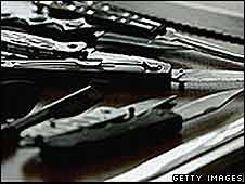 Display of knives