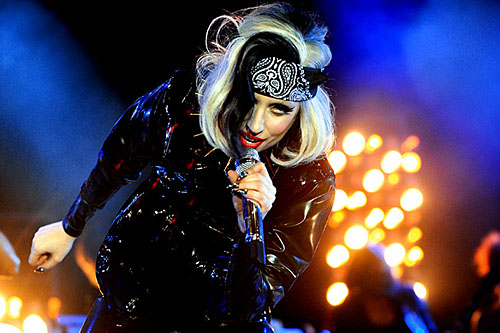 Lady Gaga performing on the Main Stage at Radio 1's Big weekend 2011 in Carlisle.