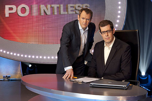 Alexander Armstrong and Richard Osman on the set of Pointless