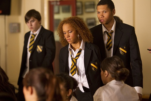 Jade (Dominique Jackson) and Stevie (Franz Drameh)
