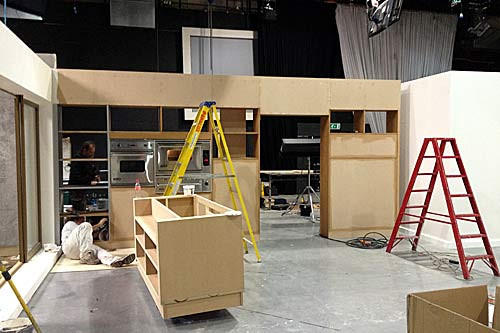 Bbc blogs tv blog nigellissima how we built the for Fake kitchen set