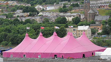 The National Eisteddfod Pavilion on the site in Ebbw Vale