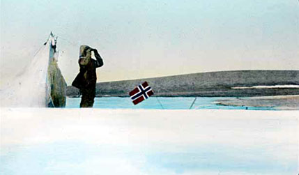 Amundsen or Sgt Peder Ristvedt at the North Magnetic Pole, May 1904
