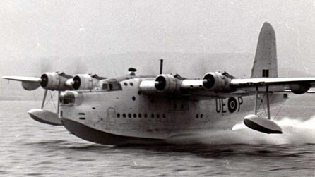 Mark V Sunderland on take off, in 1945.