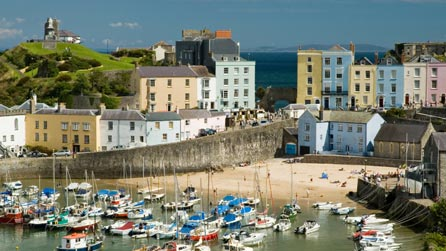 Tenby harbour.  Image from http://www.istockphoto.com