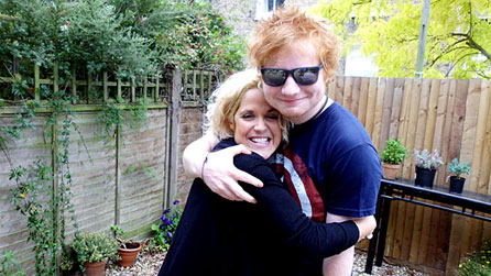 Amy Wadge and Ed Sheeran