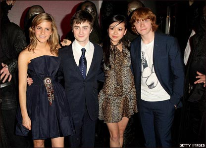 hermione harry potter. Hermione, Harry, Cho and Ron