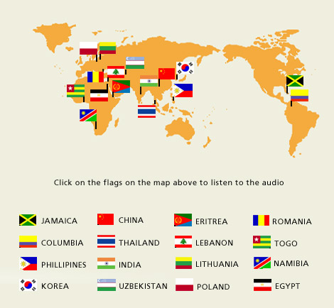 flags of the world countries. New World in Cornwall