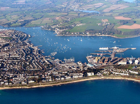 Aerial St Mawes Mary Alice