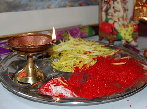 Tika (Vermilion) and Jamra are considered auspicious during Dashain