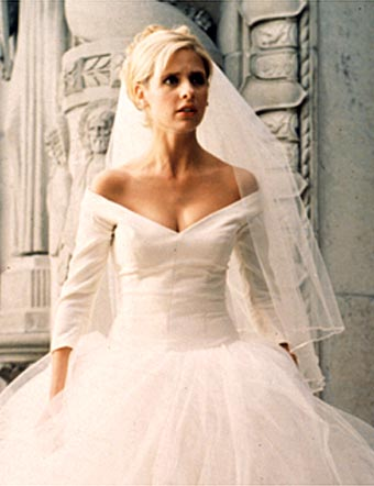 Formal Evening Dress on Buffy Copyright Twentieth Century Fox Film Corporation  All Rights