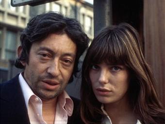 """Serge Gainsbourg et Jane Birkin,  """" Le gris du cœur  """", photographies de..."""