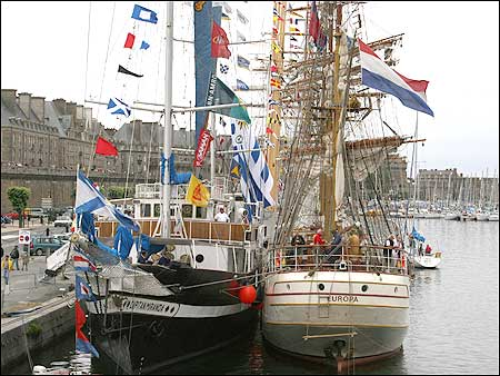 fleet alongside3 450x338 Squatting at the mouth of the River Rance, St Malo is famed for its ...