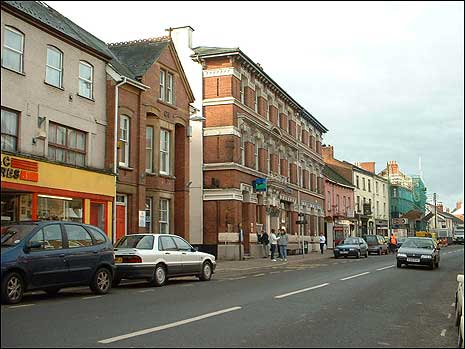 The main street in Crediton