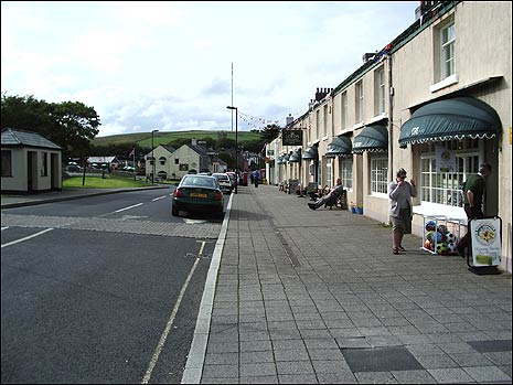 Shops in the centre of Princetown