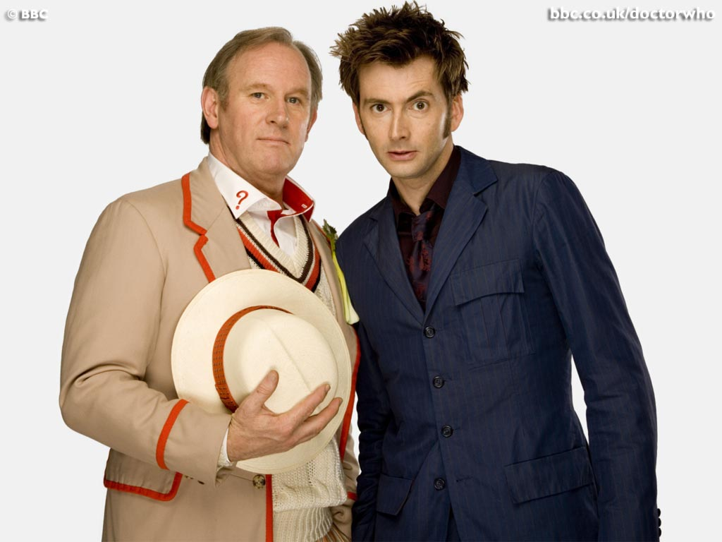 Publicity shot for Children in Need Doctor Who skit