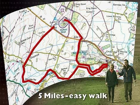 Badbury Rings Dorset Map