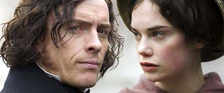 Toby Stephens as Mr Rochester and Ruth Wilson as Jane
